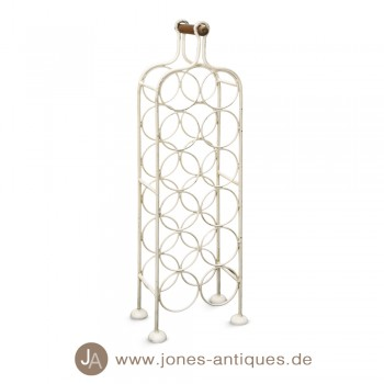 Bottle carrier made of iron, cream-white