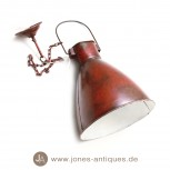Iron Tulip Lamp with Chain - Handmade in Red